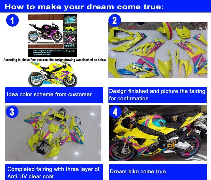 7 regalos que llevan el equipo para SUZUKI GSXR600 GSXR750 04 05 K4 mercado de accesorios GSX-R600 / 750 2004 2005 carenados amarillos negros fijados NA38