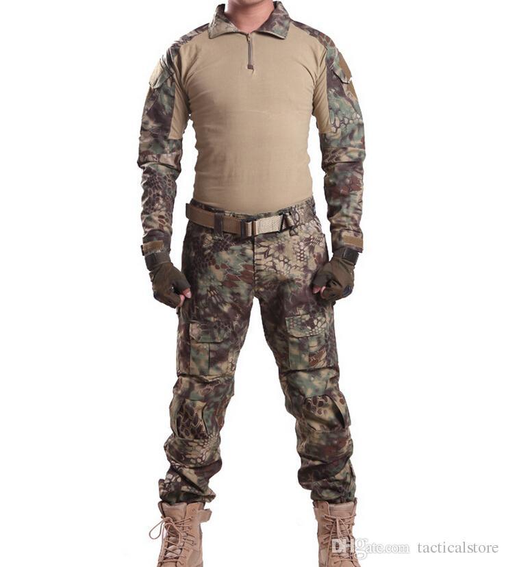 MANDRAKE Rattlesnake Gen 3 Tactical Battle Tight Suits camouflage uniform Frog Combat Airsoft clothing T-Shirt & Pants