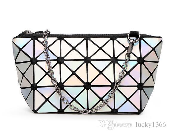 New Fashion womens cosmetic bag Geometric Folding Lingge Bag make up bags for ladies beauty bags