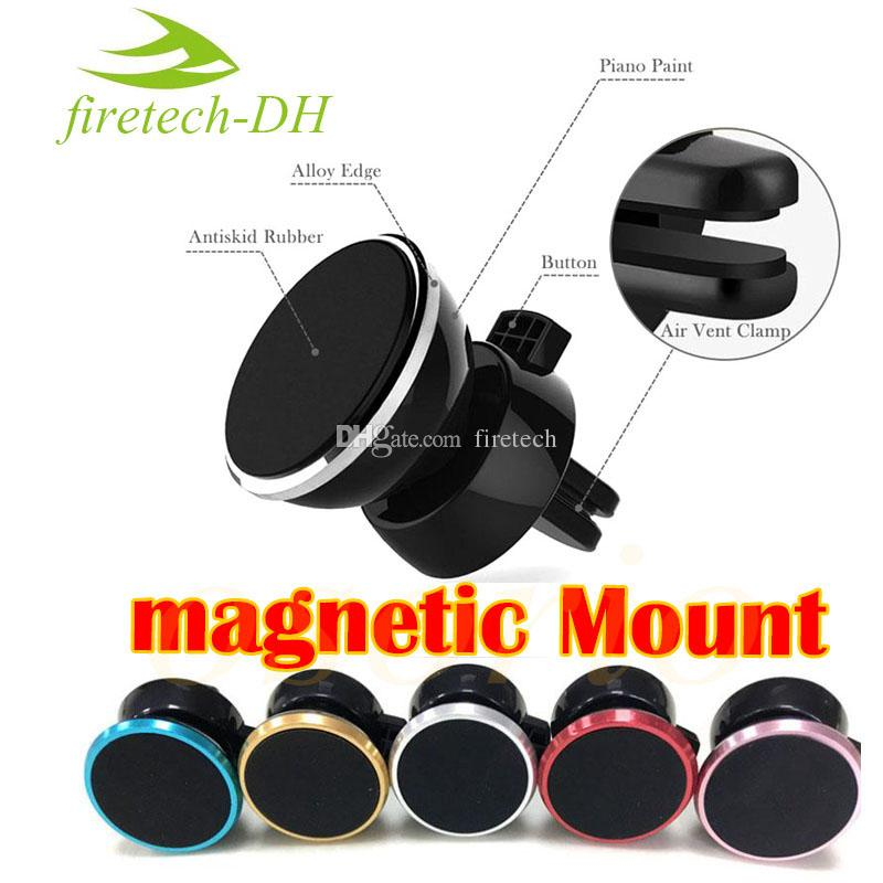 Universal Air Vent Magnetic Car Mount for iPhone and Samsung Easier Safer Driving Cell Phone Holders Magnets Bracket with Swivel Head