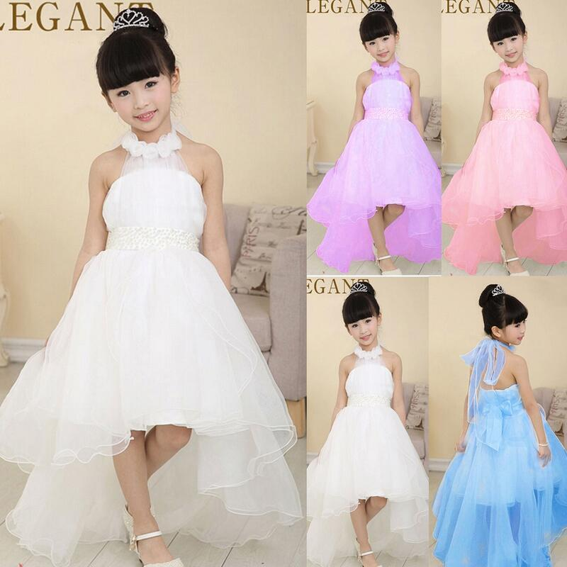 Dress Type Ball Gown 2.Sleeve Length Sleeveless 3.Dress Length Floor-Length  5.Size 100-110-120-130-140-150 6.Material Chiffon 7.Color Pink 4d5d670eb5fa
