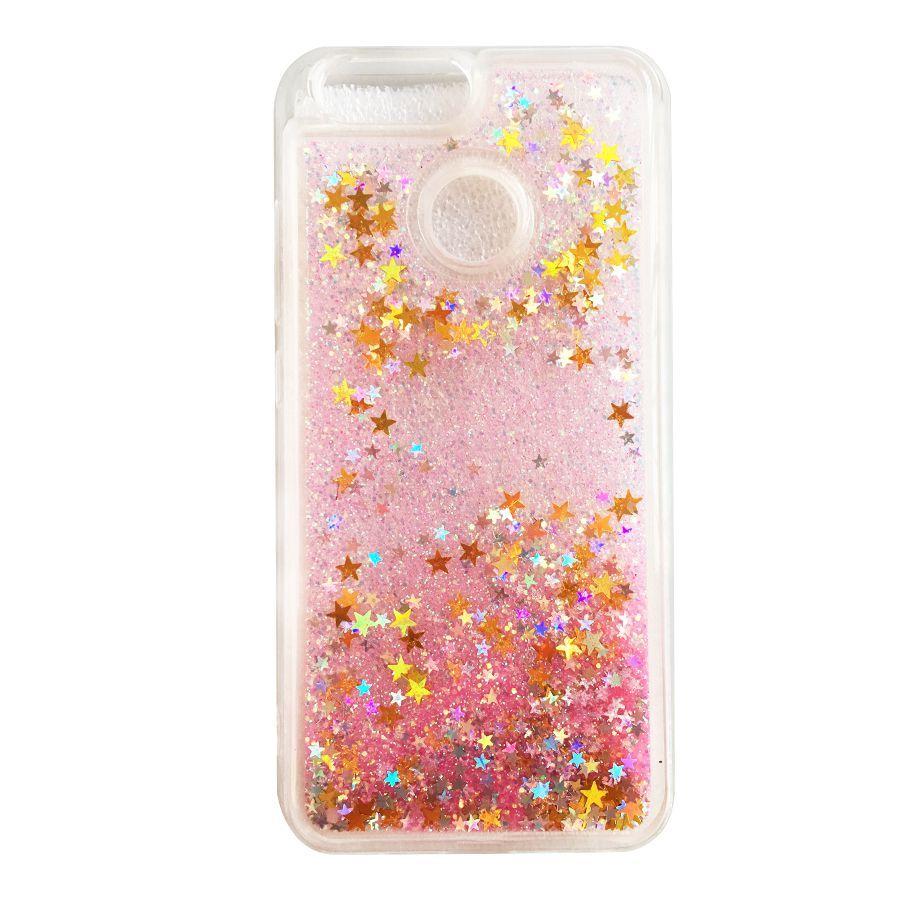 For Huawei Nova 2 / Nova 2 Plus Liquid Glitter Quicksand Love ...