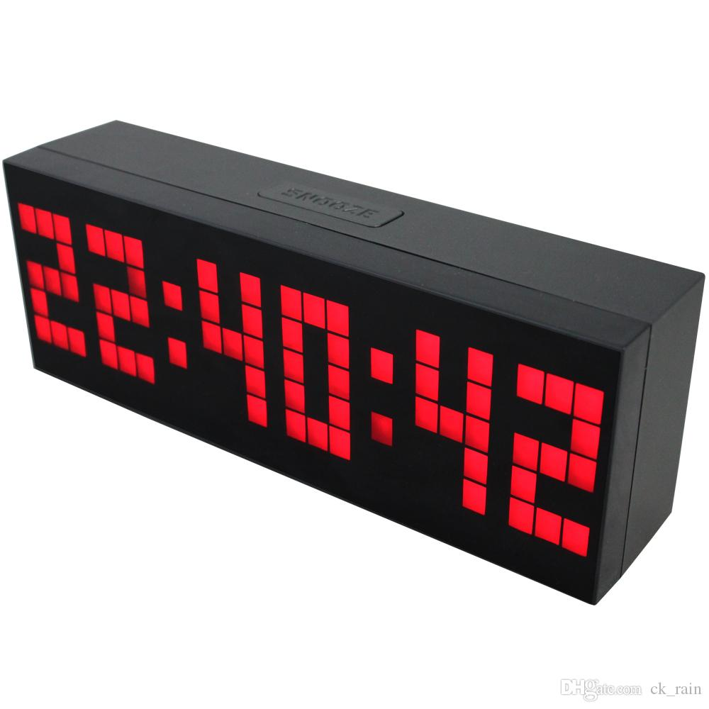 Online cheap multi function large big led digital alarm table wall multi function large big led digital alarm table wall clock countdown weather date temperature timer amipublicfo Images