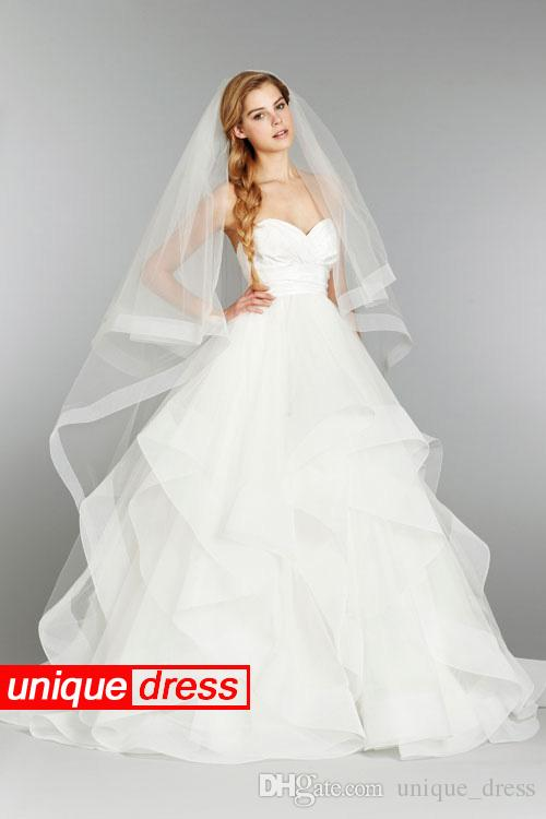 Simple Design 2015 Ball Gown Wedding Dresses Sweetheart Court Train