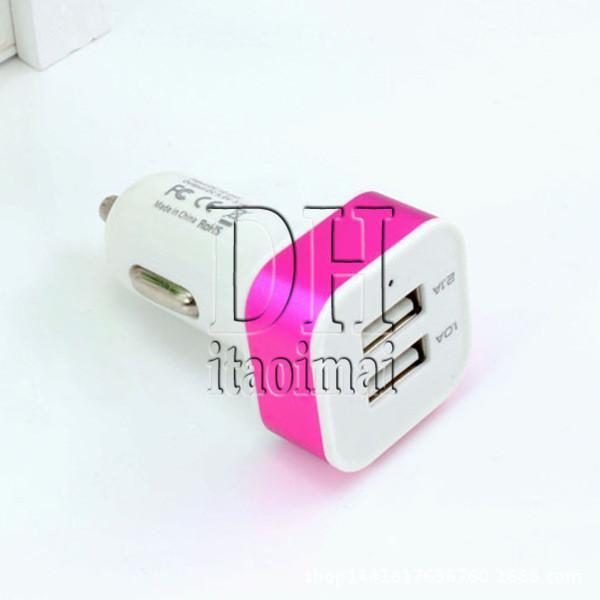 Dual port usb carregador de carro 5 v 3.1a mini adaptador universal para samsung iphone 5 6 s telefone celular mp4 player de telefone inteligente