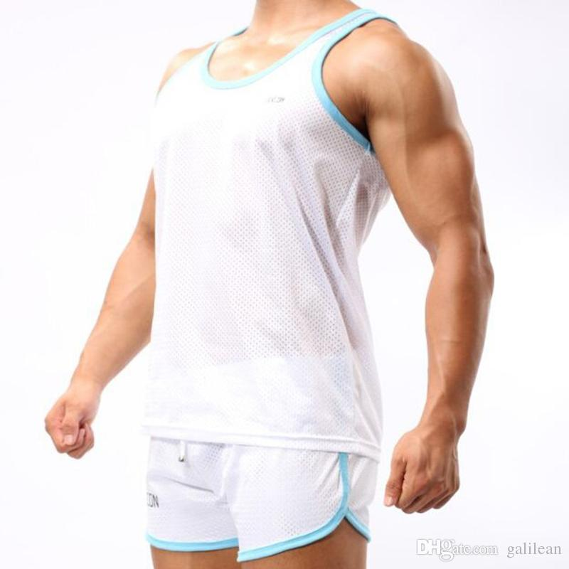 Casual Men shorts Cockcon Polyester sports Running shorts boardshorts ropa hombre Sexy Gay airsoftsports gym Shorts masculino mens clothing