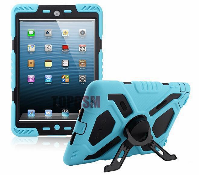 For ipad 6 For ipad air 2 Pepkoo Spider case Military Heavy Duty Waterproof Dust/Shock Proof tablet Case with retail package