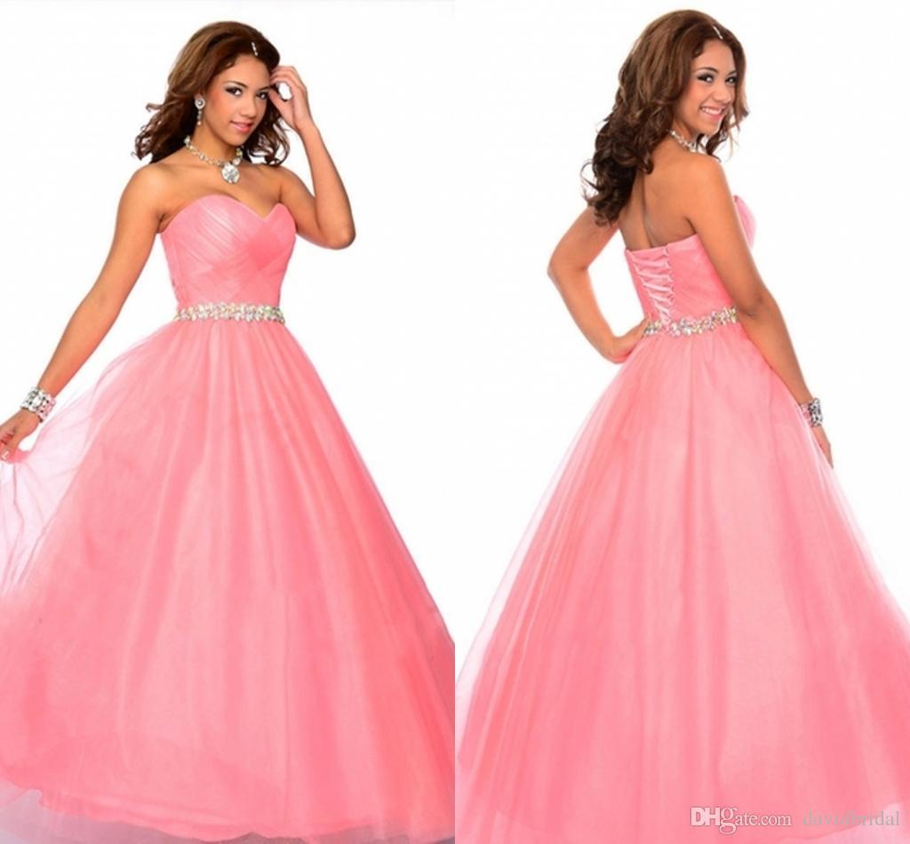 Compre Novia Atractiva Banda Prom Vestidos Dulces 16 Rosas Fuertes ...