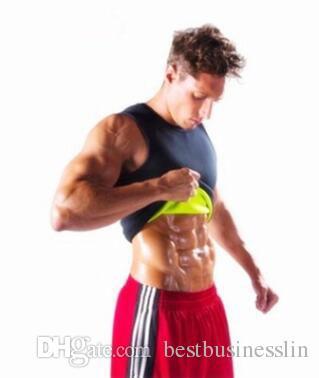 Горячий продавая Мужчины Sexy Похудение Vest Пластика тела Shaper живота Жирная Тепловое Тонкий Нижнее белье Человек Спорт рубашки верхней части корсета Shapewear Reducer