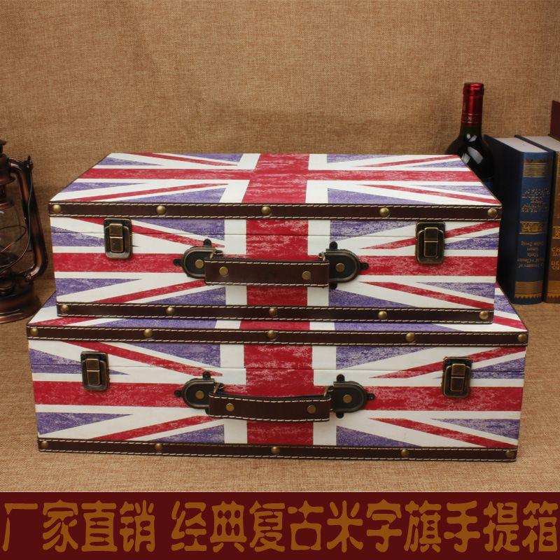 2018 New Hot Vintage Union Jack Suitcase Storage Box Creative Photography Gifts Box Wooden Hotel From Xwt5243 $136.85 | Dhgate.Com & 2018 New Hot Vintage Union Jack Suitcase Storage Box Creative ...
