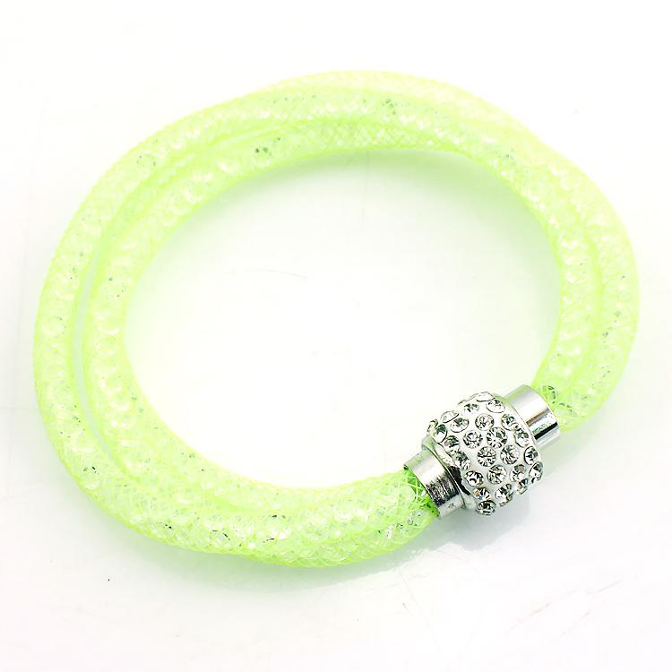 Newly Link Bracelets Crystal Mesh Magnetic Clasp Multilayer Infinity Mens Chain Bracelets Bangles Jewelry