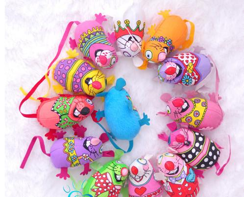 新着到着20ピース送料無料かわいいカラフルなマウス脂肪猫のおもちゃのおもちゃの盛り合わせ色の有機キャットニップのおもちゃ