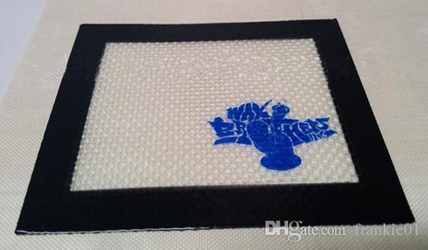 20cm * 20cm Silicone Mat Jar Slick Pad No Stick Shatter Proof Tool Set En Acier Inoxydable Dabber Dab Jar Pad Kit