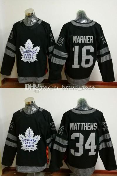 f6b75dbfe19 2019 2017 Centennial Classic 100th Anniversary Ice Hockey Black Toronto Maple  Leafs Jerseys 34 Auston Matthews 16 Mitchell Marner Jerseys From  Brand zone