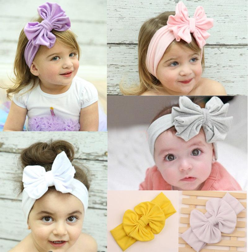 Baby Girl S Headbands Cotton Hair Bow Flower Cotton Headband With Big Bow  Solid Color Floral Hair Accessories Hair Accessories Kids From Melee 48ffd9296bf