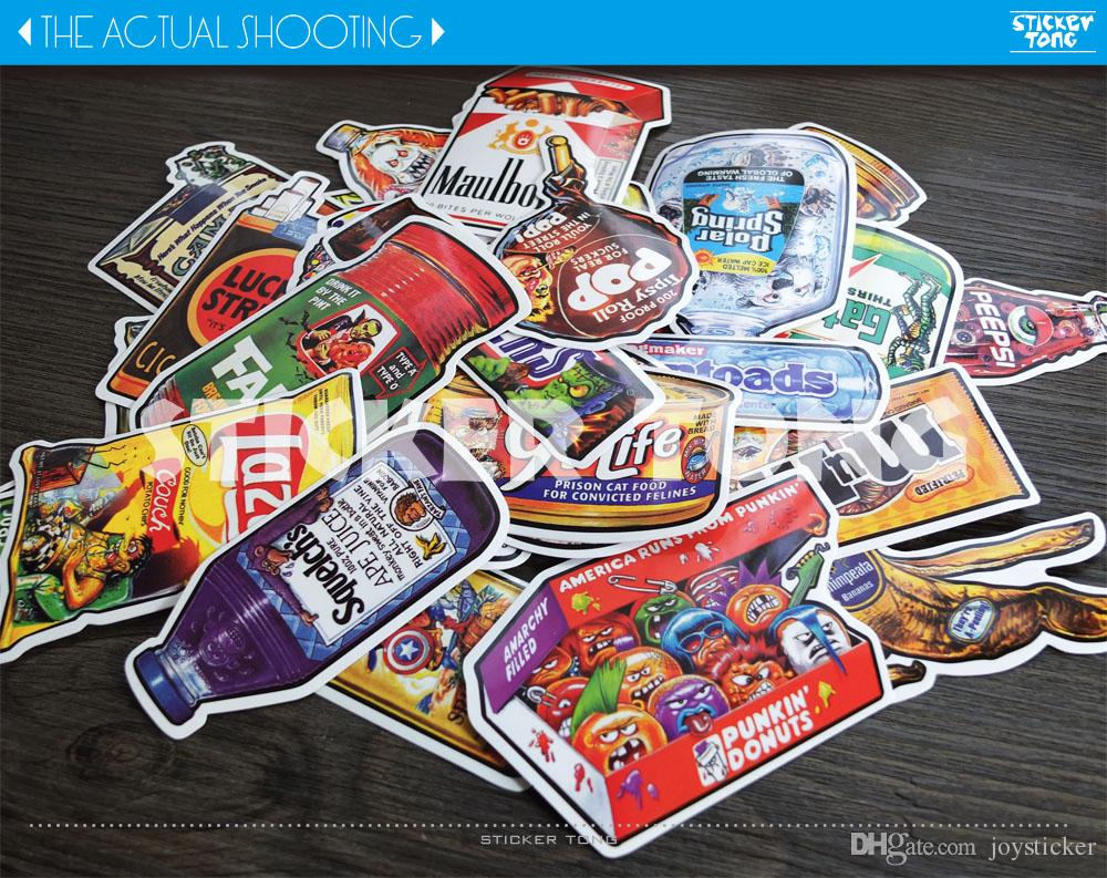 funy stickers  random/non repeating bike skateboard deck notebook laptop car wall Motorcycle stickerbomb PC luggage Fixed Gear