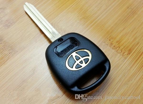 A ESTRENAR Reemplazo Shell Remote Key Fob para TOYOTA Prado Tarago Camry Corolla con TOY43 BLADE 2 Button sin cortar 2 botones