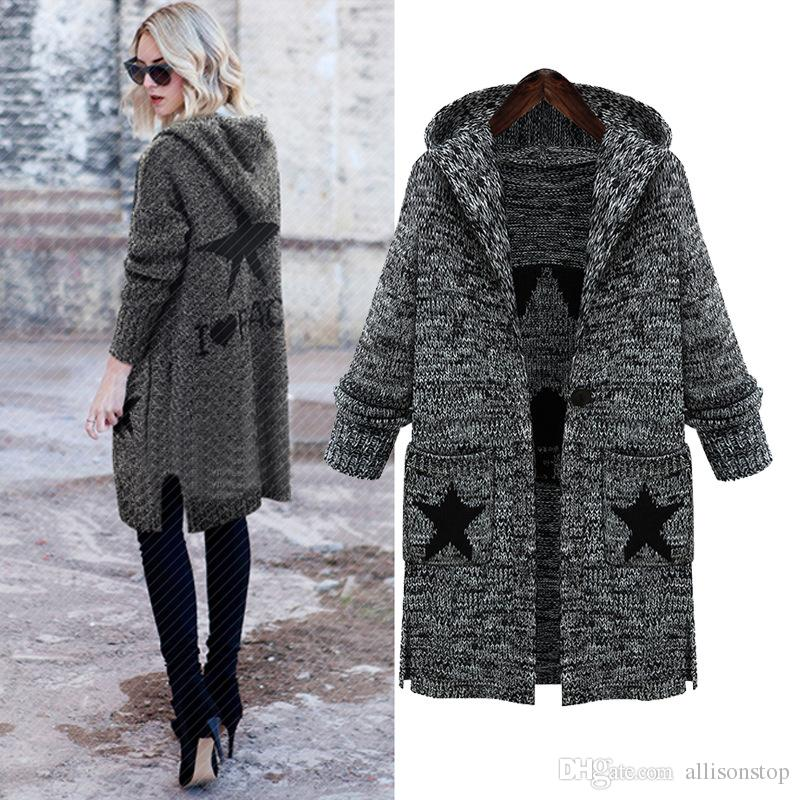 b375004227 Online Cheap Hot Fashion Classic Knitted Womens Sweaters Autumn American  Eur Plus Size 5xl Long Sleeve Long Casual Gray Dresses Mujer Top Clothing  By ...