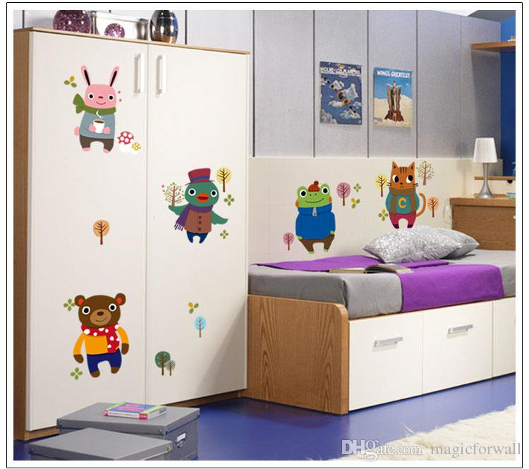 Removable Happy Childhood Wall Decal Stickers Decor Frog