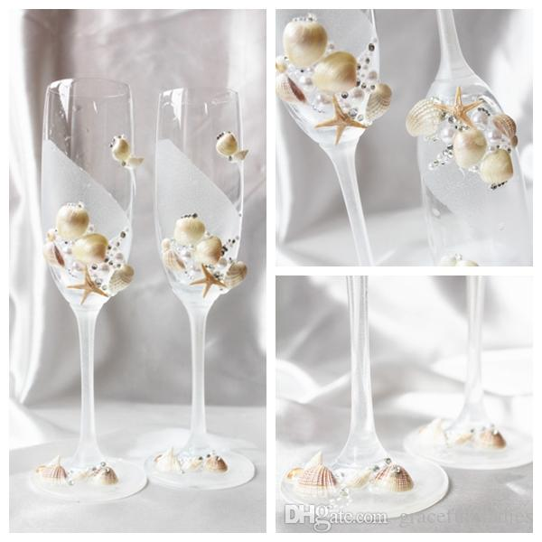 Exquisite Crystal Shell Wine Glasses Handmade Lead Free