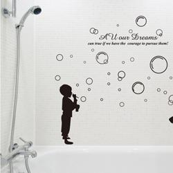 Nursery Bathroom Wall Stickers Home Decoration Wall Quotes Environment  Friendly Pvc Vinyl Wall Art Stair Decals Quotes For Kids Sticker For Wall  Decoration ...