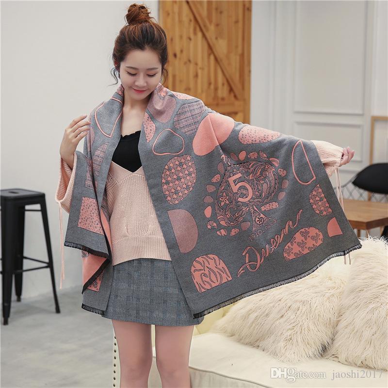 Großhandel Schal Für Frauen Luxus Brief Muster Cashmere Designer