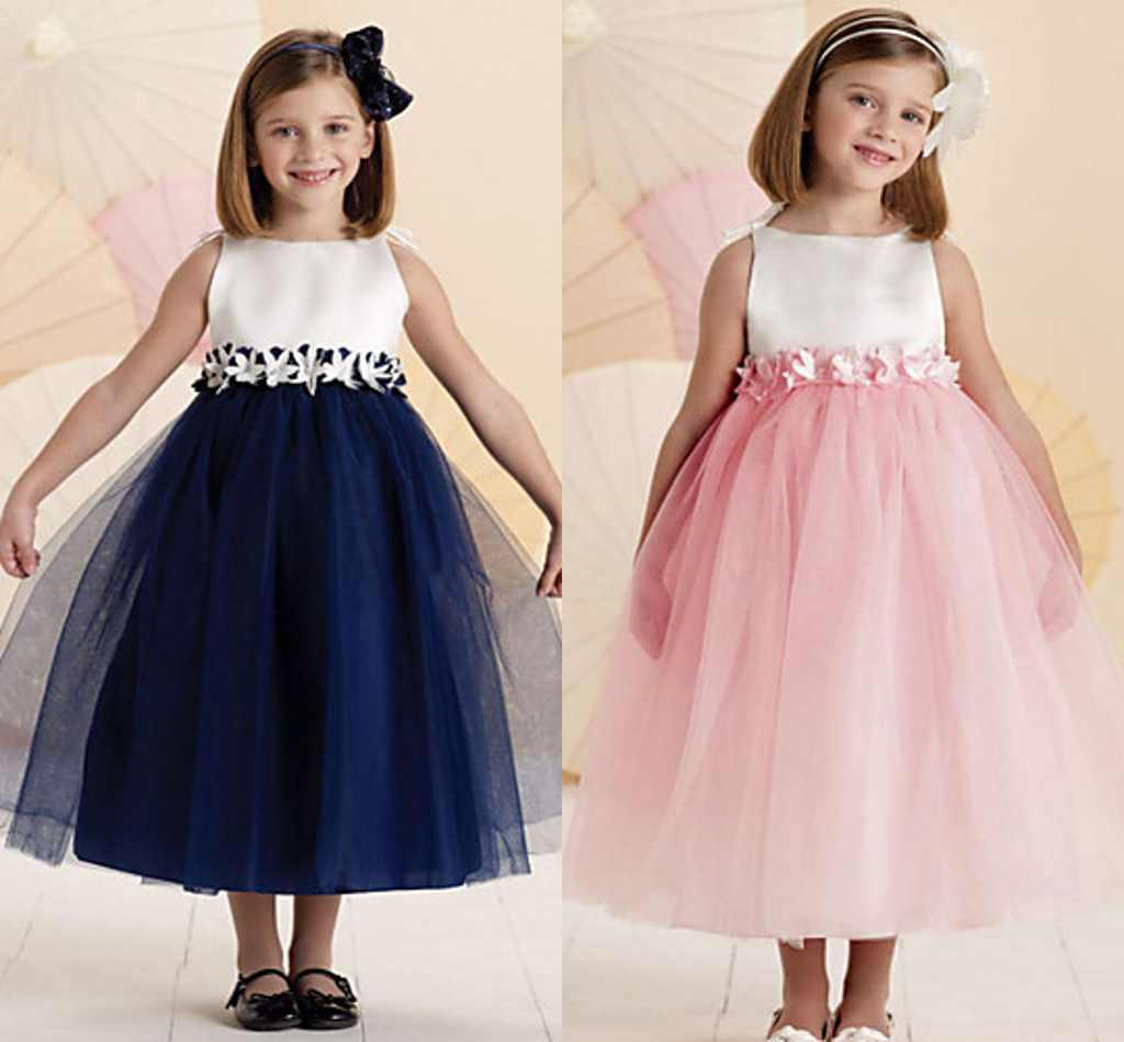 Charming sweet navy blue white flower girl dresses ankle length charming sweet navy blue white flower girl dresses ankle length jewel sleeveless wedding party gown for kid baby girl pageant dress zyy ombrellifo Gallery