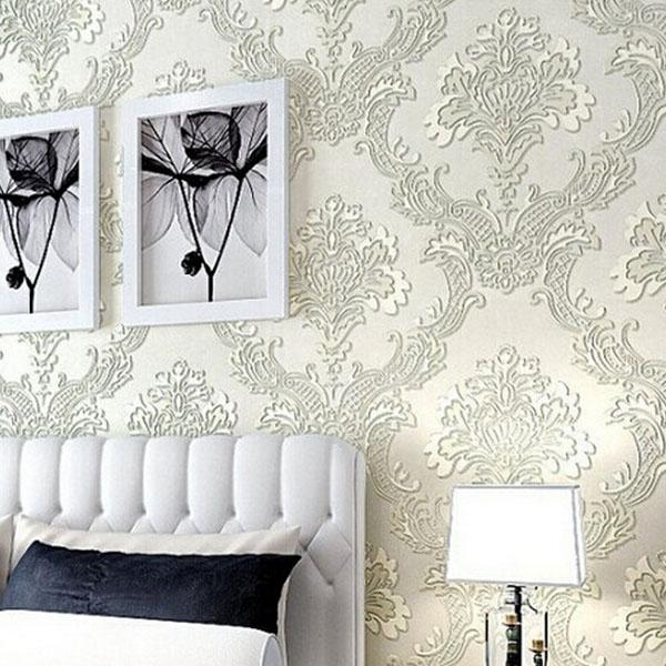 See larger image - Soundproof Non Woven 3d Wallpaper Roll Vintage Embossed