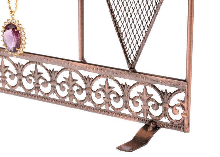 Orecchini in ferro battuto Collana Bracciale Catena Porta gioielli Espositore Rack Negozio Decorazione della casa Regalo di nozze