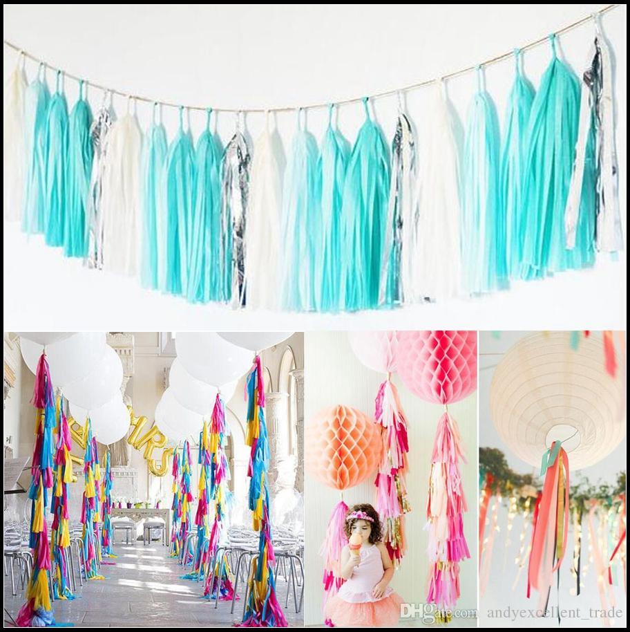 Dhl Wedding Party Decorations Paper Tassels Ribbon Holiday Birthday ...