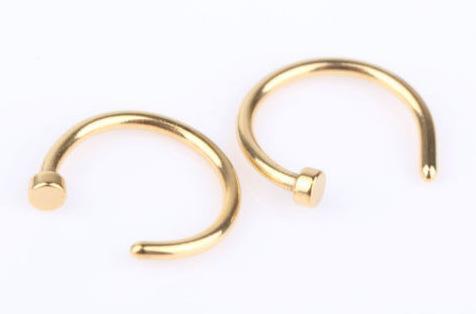 Moda Anéis De Nariz Body Piercing Jóias Moda Jóias de Aço Inoxidável Nariz Anel de Argola Aberta Brinco Studs Anéis de Nariz Falso Não Anéis Piercing