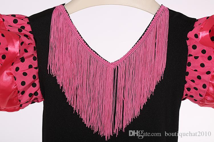 Yeni Kızlar elbise Güzel İspanyol Flamenko Dans Elbise flamenko elbise boyutu; 2,4,6,8,10 boyutu U-pick