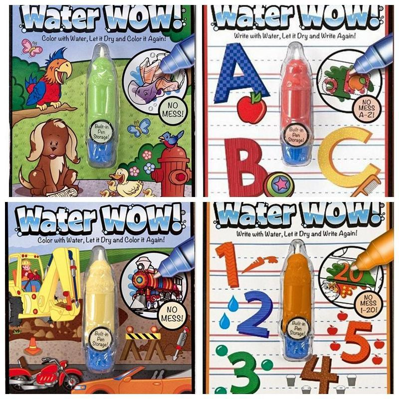 Best Reusable Pen Aqua Coloring Book Doodle Arts Drawing Writing On The Go Water Wow Bundle Paint Board Toys For Children Kids Under 1809