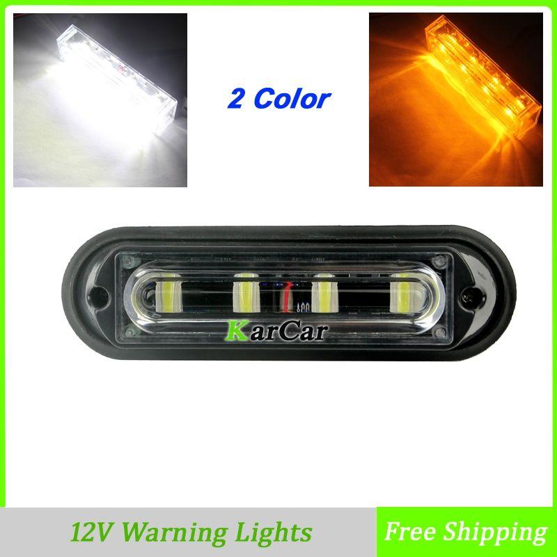 W  Led Warning Lights Truck Auto Car Daytime Running Lights V - Car signals
