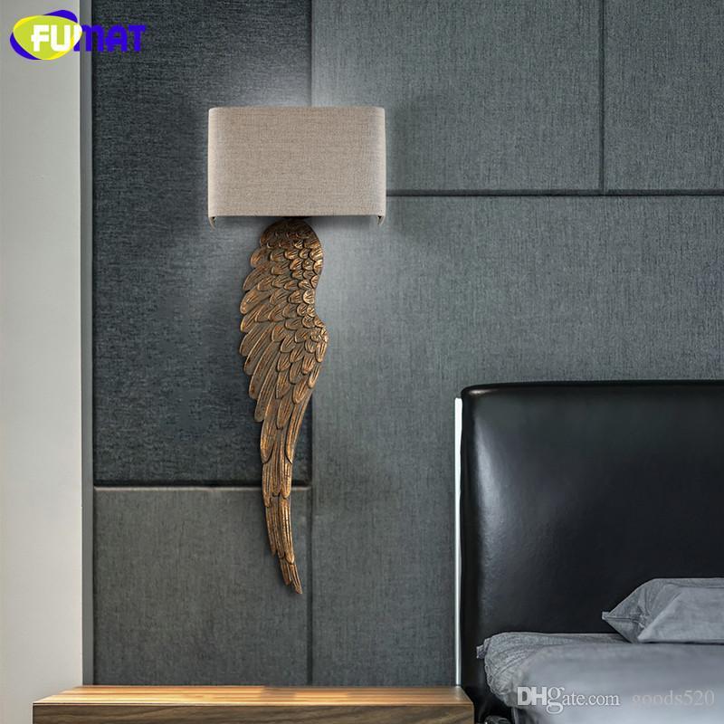 Super Großhandel FUMAT Wood Wing Wandleuchten Gold Wandleuchten Für Wand PB27