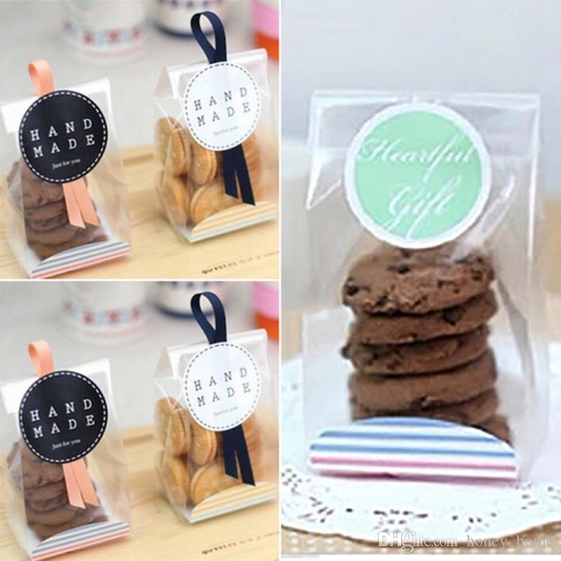 2018 Cookies Sweet Candy Packing Bags Xmas Wedding Party Cellophane
