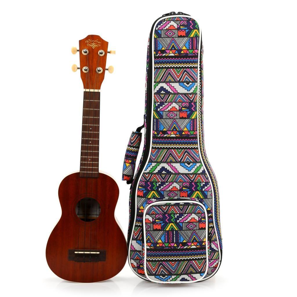 2019 newsale portable 21 23 24 26 inch soprano concert tenor ukulele case small bass guitar bags. Black Bedroom Furniture Sets. Home Design Ideas