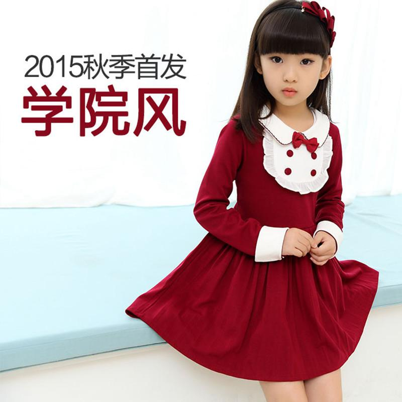 2018 Dresses For Girls Of 7 Years Old England Style Children Autumn