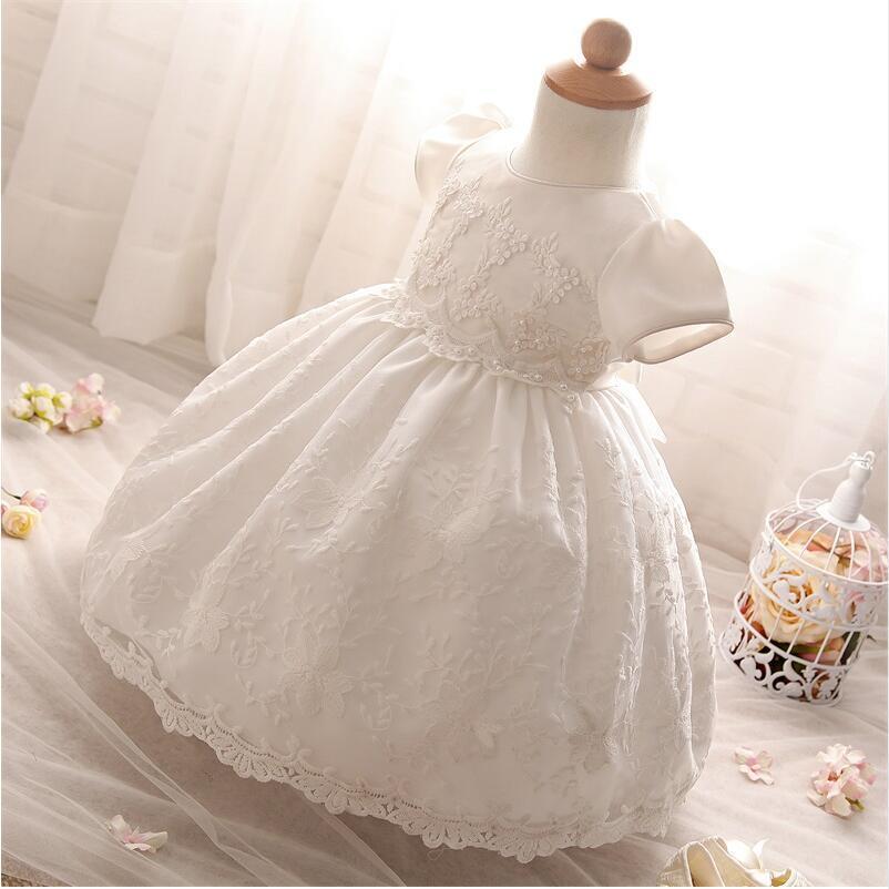 Compre Al Por Mayor Vestido De Bautizo De Bebé Niña Vestido De Bautizo De  Encaje Blanco Tulle Princesa Infantil Bautismo Vestido De Bebé Niñas 1er ... 201a4390175b