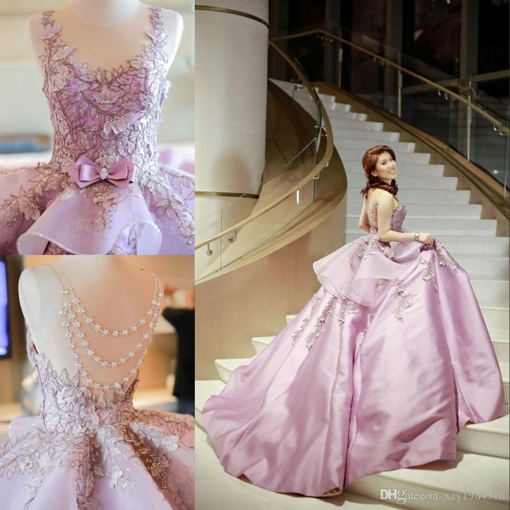 Mak Tumang New Arrival Evening Gowns Sexy Crystal Beaded Sheer Backless Evening Dresses Glamorous Embroidery Appliqued Red Carpet Dress