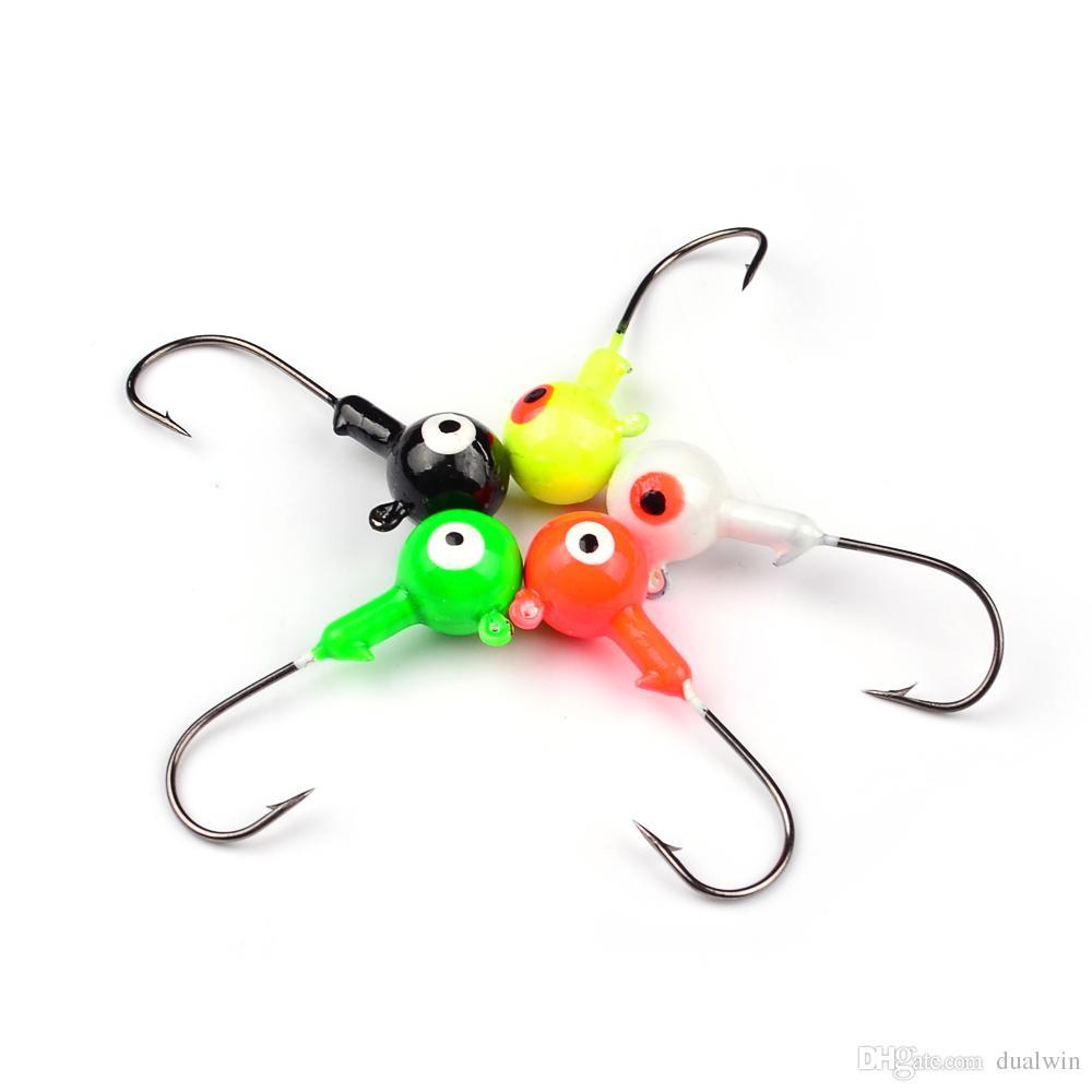 10G Jig Big Hook Eye Jig Hook Mini Lead Round Head Fishing Lure Jigs Fishing Hook