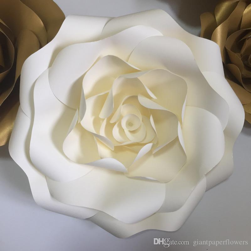 Son DIY yarım 1 parça Duvara Monte Dev Kağıt Çiçek Düğün Için Arka Planında Kış Onederland Centerpieces Nişan Deco Babyshower