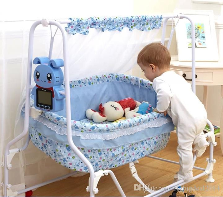 Hot Selling Newborn Baby Automatic Swing Cradle Cartoon