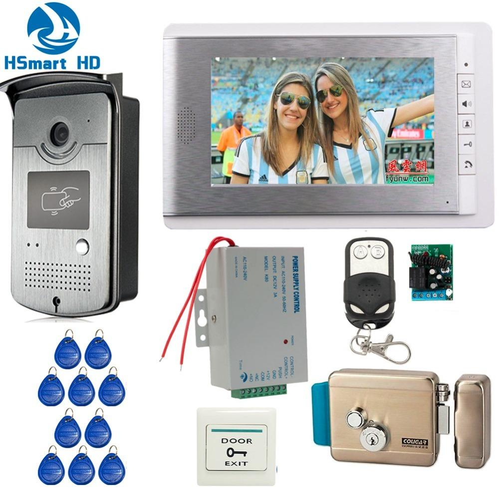 Home Wired 7 Inch Video Door Phone Intercom Entry System 1 Monitor