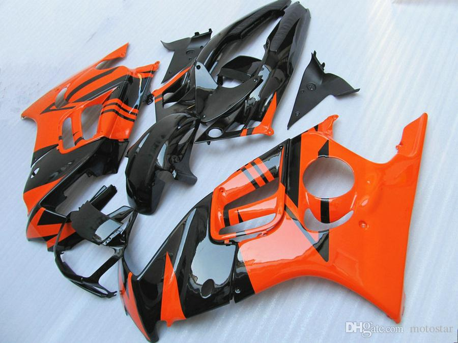 Full fit for HONDA F3 fairings CBR600 1997 1998 CBR 600 97 98 orange black fairing body kit QY69
