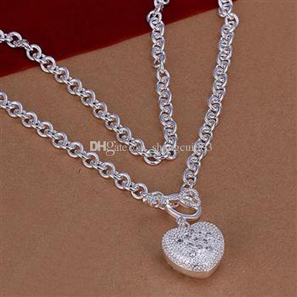 Nowy projekt styl mix 9 sztuk / partia całkiem słodkie tanie biżuteria Piękny 925 Sterling Silver Fashion Różne Naszyjnik Piękna Biżuteria