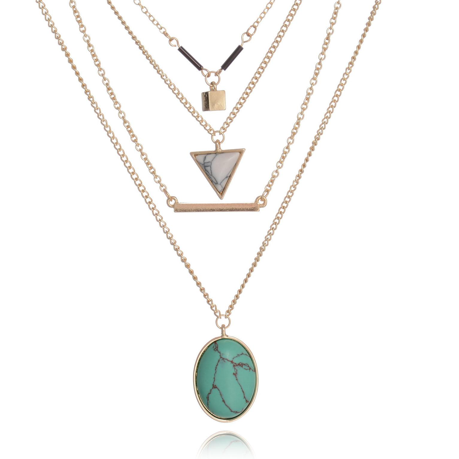 mini rose necklace in plated clarke lyst floris stone gold jewelry metallic astley pendant turquoise