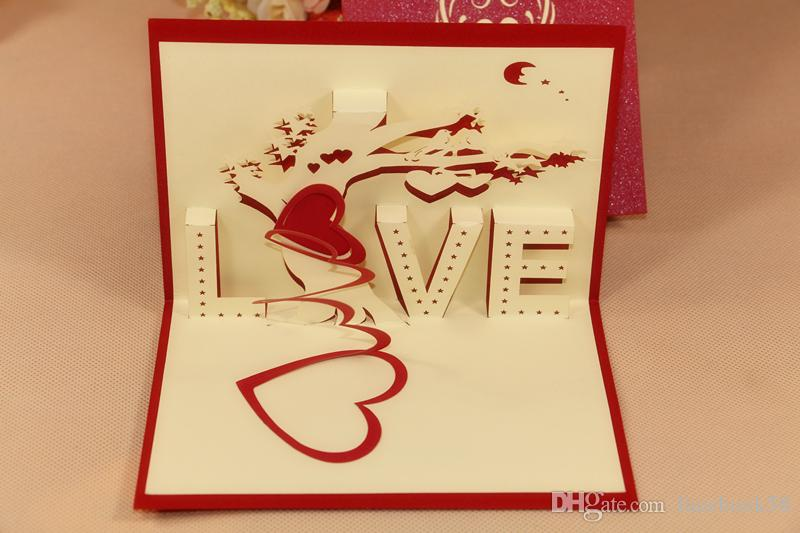 3d love tree greeting card wedding handmade creative kirigami 3d love tree greeting card wedding handmade creative kirigami origami 3d pop up gift cards thank you cards m4hsunfo