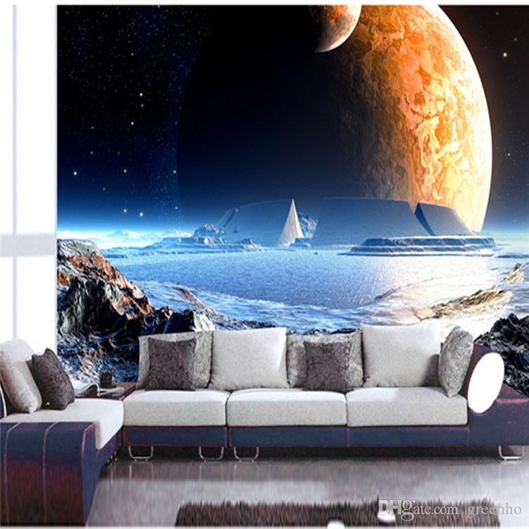 1 Bedroom Apartment Decorating Bedroom Ceiling Art Images Of Bedroom Paint Ideas Bedroom Background Cartoon: Game Scene Moon Space Mural Photo Wallpaper Large View