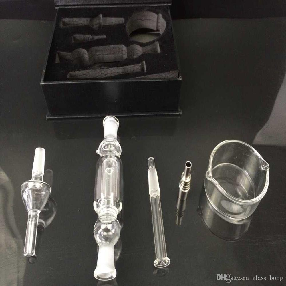 Nectar collectors Glass Nectar Collectar Tips with Titanium and Quartz Nail Dabber Dish Glass water Pipe smoking hookah